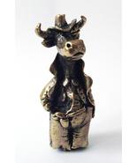 Bull the Sheriff-bull bronze figurine,collectible statuette,funny bull m... - $15.00