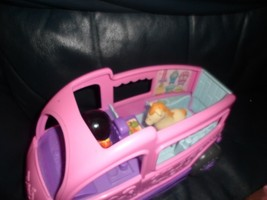 Rare JUMP n RIDE Show Horse Pony Pink Trailer Fisher Price Little People... - $14.51