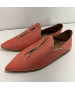 Free People St Lucia Cut Out Flats Shoes Coral Womens Sz 37 6.5 7 Pointe... - $74.22