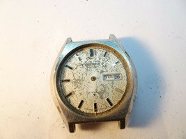 VINTAGE SEIKO 6109A CASE AND MOVEMENT RUNS FOR REPAIR OR PARTS RUNS WHEN... - $91.92