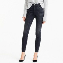 """J. Crew Womens Size 26 9"""" High Rise Toothpick Jeans Skinny Charcoal Wash... - $57.92"""