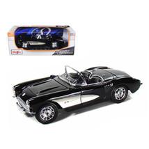 1957 Chevrolet Corvette Black 1/18 Diecast Model Car by Maisto 31139bk - $48.29