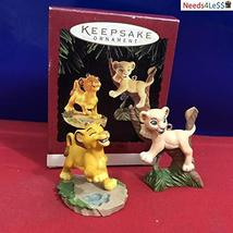 Simba and Nala the Lion King 1994 Hallmark Keepsake Ornament - $24.49