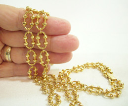 AVON Nubby Oval Link Gold Plate Necklace and Bracelet Choker 1978 Vintag... - $13.85