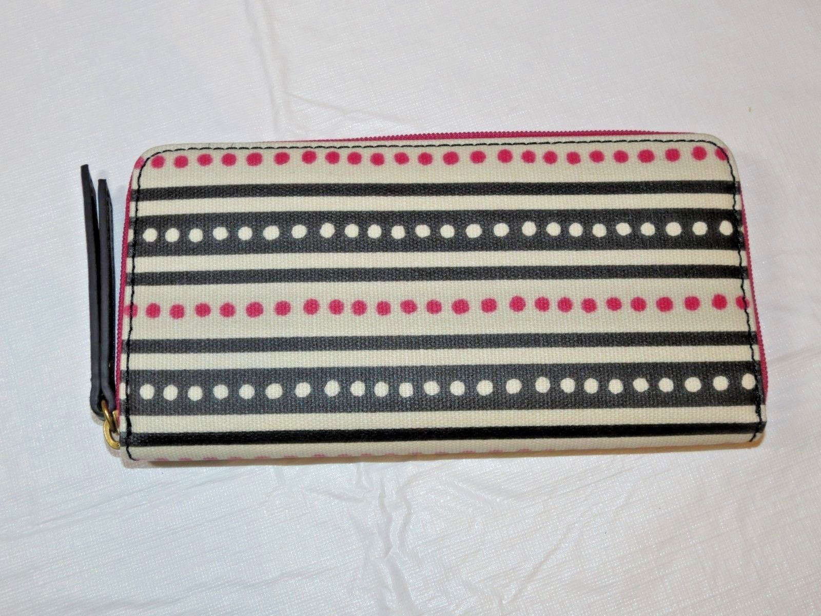 Fossil SWL2034339 Eliza Clutch Pink Dots Off white pink black clutch wallet *^ image 2