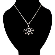 Silver Celtic Knot Turtle Necklace  - $42.00