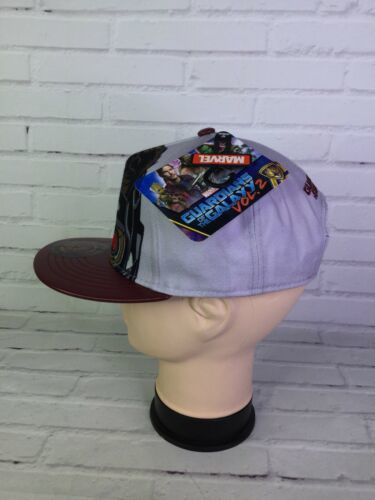 Marvel Guardians Of The Galaxy Star Lord Snapback Hat Cap Faux Leather Brim OSFM