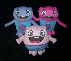 3 Dreamworks Home Movie Oh Boov Pink Purple Stuffed Animal Plush Toy Doll Soft - $24.31