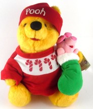 Winnie the Pooh & Piglet Too Disney 1996 Holiday Edition Mattel Plush with Tags - $9.99