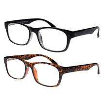 2 Pack Premium Plastic Men Prescription Eyeglasses Stylish Reading Glasses Lens - $15.84