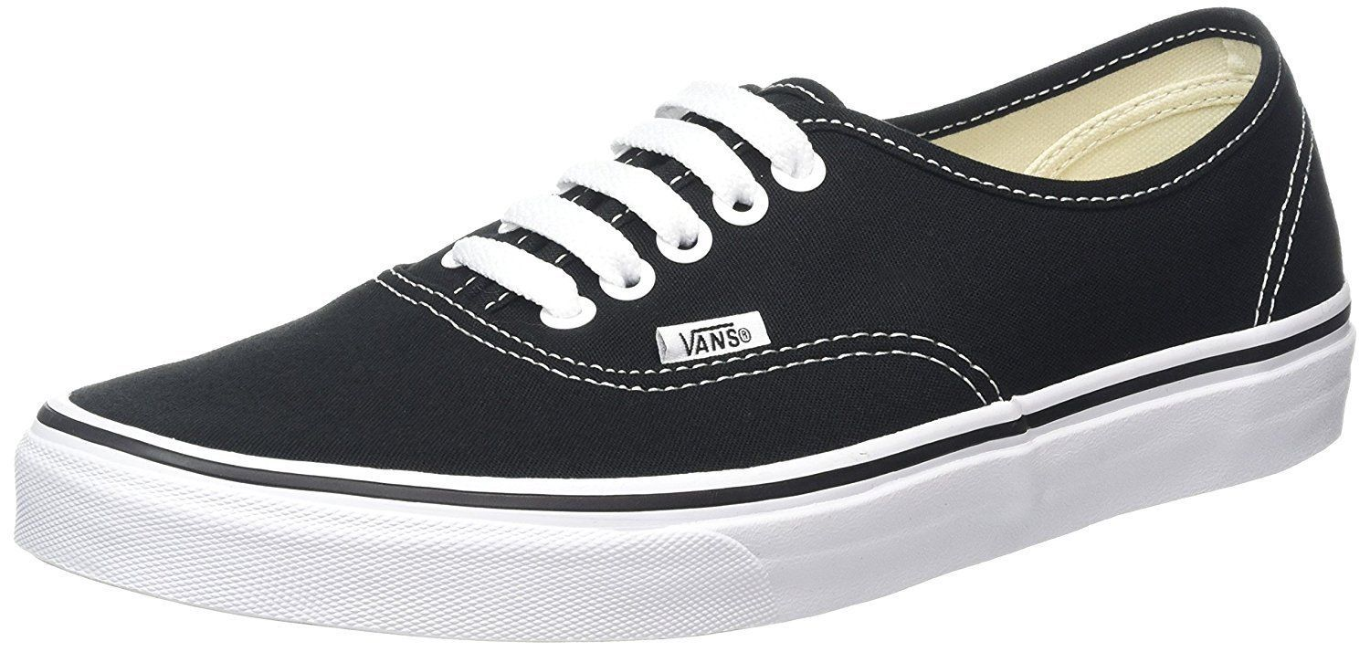 5d26997d82 57. 57. Previous. New Vans Unisex Authentic Black Core Classics Skate Shoes-  Mens 9 Womens 10.5