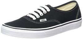 New Vans Unisex Authentic Black Core Classics Skate Shoes- Mens 9 Womens... - $49.95