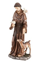 Fox Valley Traders St. Francis of Assisi Decorative Garden Statue, Weather-Resis