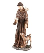 Fox Valley Traders St. Francis of Assisi Decorative Garden Statue, Weath... - $37.50