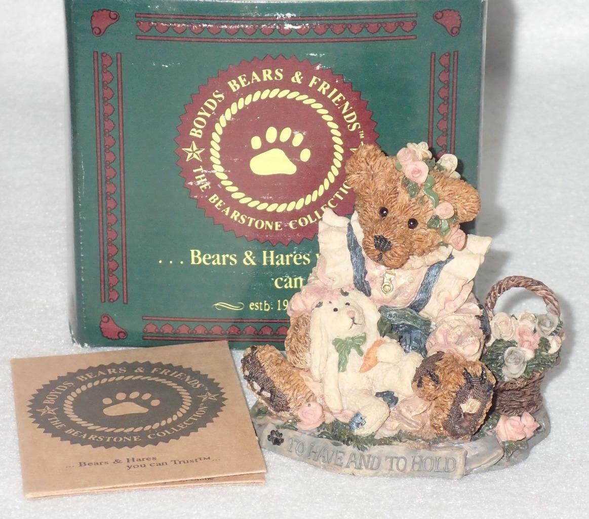 Boyd Bearstone Resin Bears 1994 Bailey & Wixie Figurine #2017 38E NEW IN BOX image 3