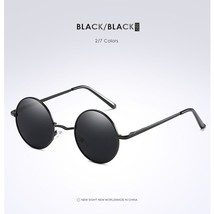Fashion Metallic Polarized Round Sunglasses Mens Womens Blue Coating Mir... - $17.74
