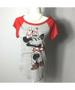 Disney Minie T-Shirt Black Girl Size large 11/13 - $9.89