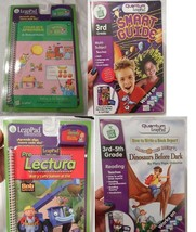 Lot of 4 Leap Pad Leap Frog Educational Books & Cartridges - $14.89