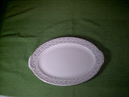 Vintage Taylor Smith Taylor Platter with Gold Trim #4531 - $13.00