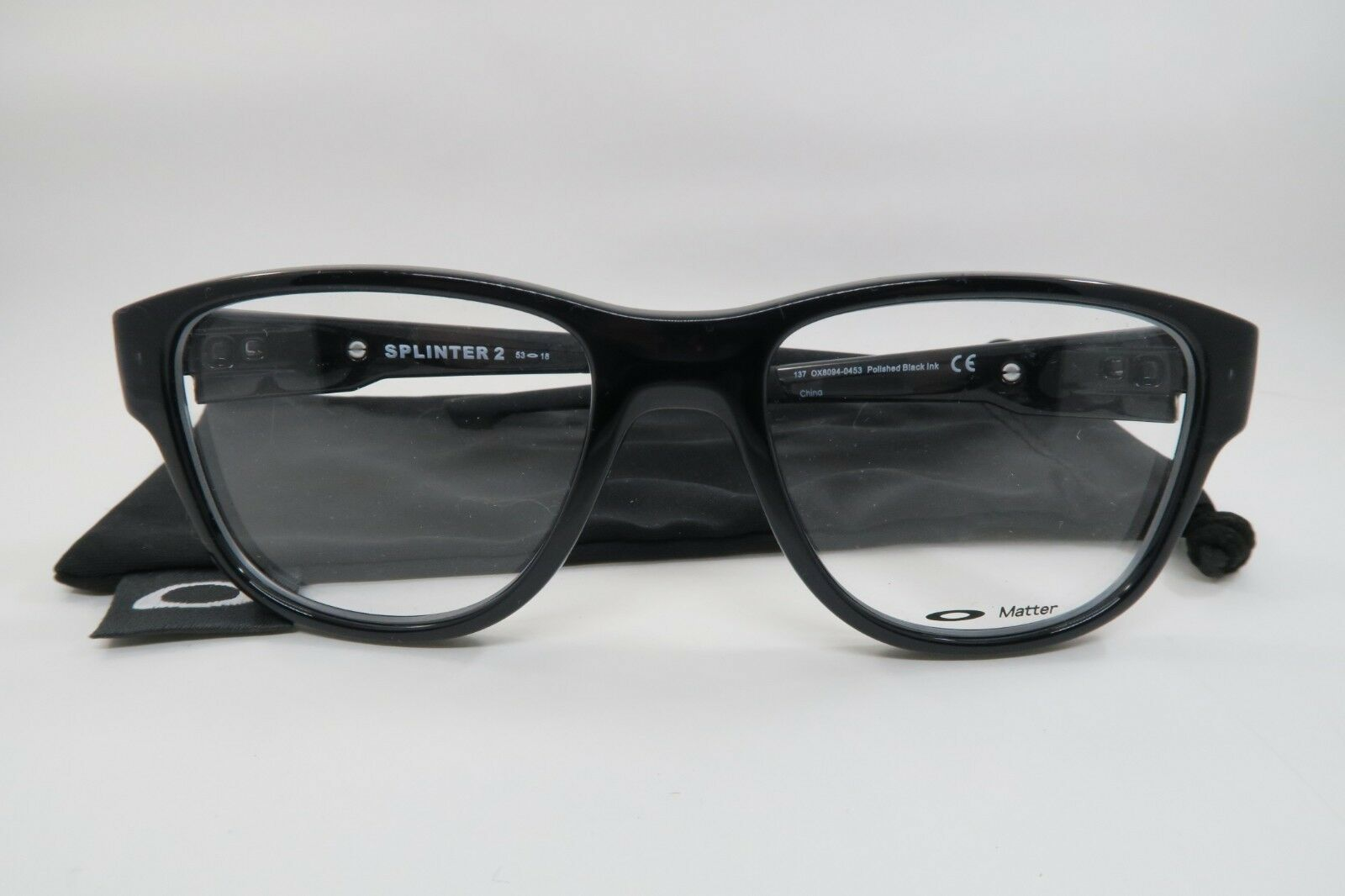 a48766aae49c6 New Authentic Oakley OX8094-0453 Polished Black Ink Eyeglasses 53mm w   Cloth Bag -  85.00