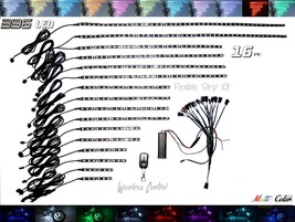 16x Motorcycle Accent Strip Kit ~ All Colors ~ Wireless Remote ~  * Brightest * - $173.25
