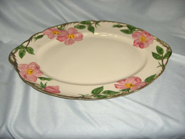 "Vintage 14"" Oval Tray Platter Franciscan China Stoneware Desert Rose USA  NICE - $54.45"