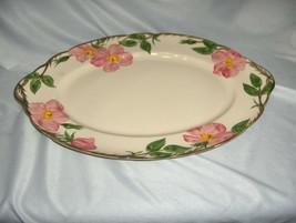 "Vintage 14"" Oval Tray Platter Franciscan China Stoneware Desert Rose USA... - $54.45"
