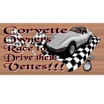 Corvette Wood Signs -  GS 1255- Corvette Plaque - €7,92 EUR+