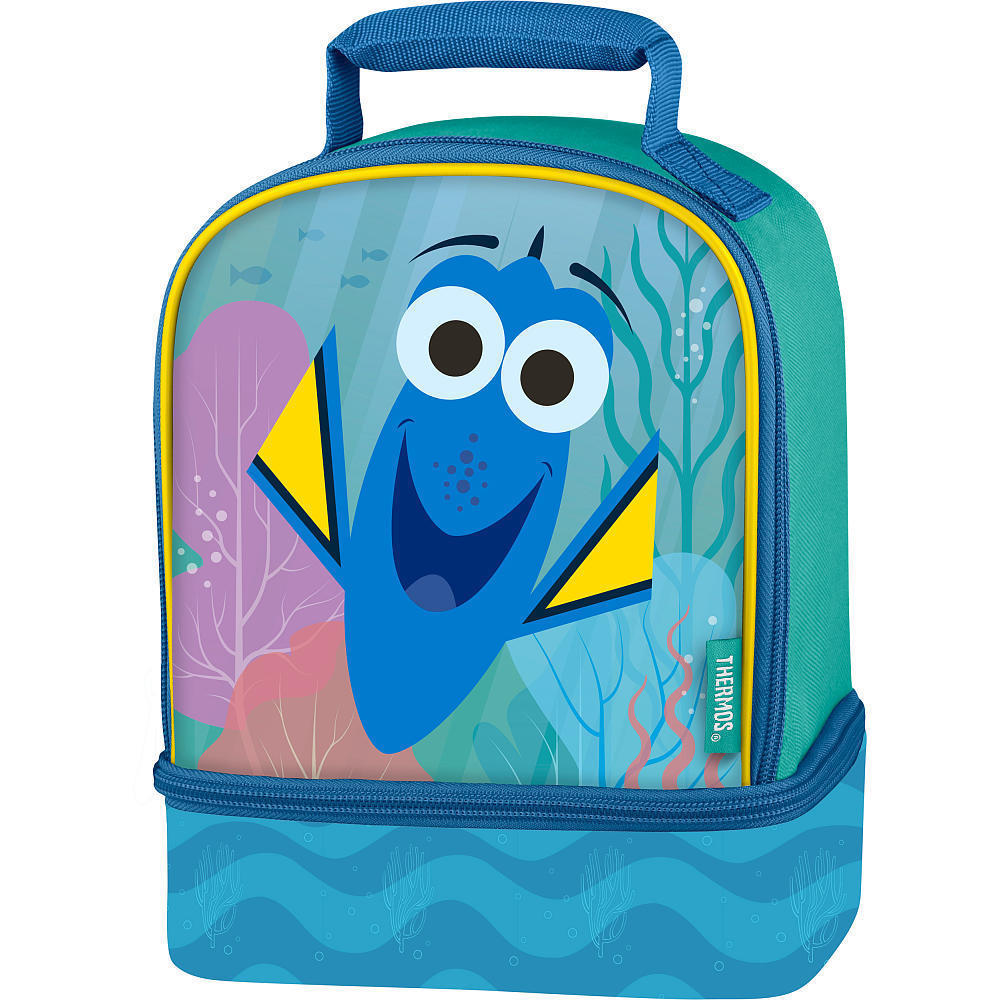Lunch Kit Box Disney Finding Dory Dual Compartment Bag w/ Reflective Strips NEW