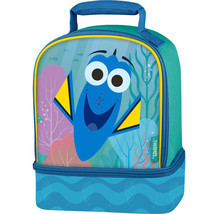 Lunch Kit Box Disney Finding Dory Dual Compartment Bag w/ Reflective Str... - $9.99