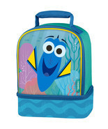 Lunch Kit Box Disney Finding Dory Dual Compartment Bag w/ Reflective Str... - $11.99