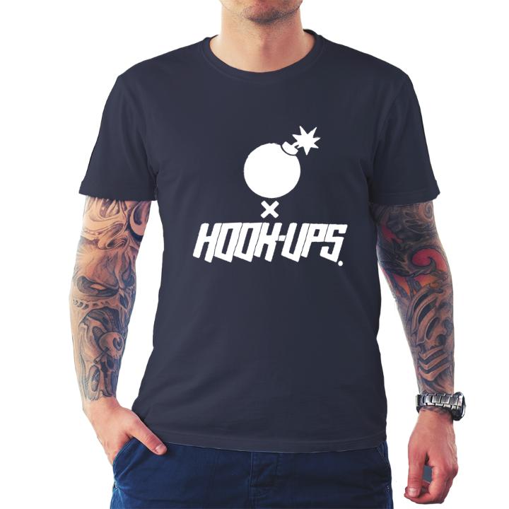 The hundreds hook ups skate men s black t shirt