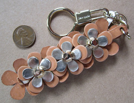 Kate Spade New York Keyring Fob Leather Flowers NWD - $44.55