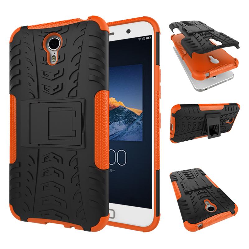 Rid dual layer shockproof armor case kickstand cover for lenovo zuk z1 orange p20151215144126295