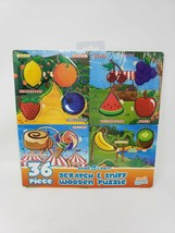 Scent Masters 36 Pc Scratch & Sniff Wooden Puzzle - New - $12.99