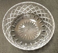 "Cartier Crystal Bowl English Cut Diamond Pattern 7-7/8"" - $59.35"