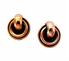 Vintage Matisse Large Round Copper Earring Clips - $48.00