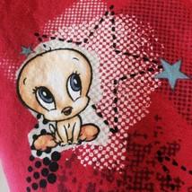 Scrub Tweety Bird Blonde Ambition Looney Tunes Red Top V neck Cross Body Warner  - $17.72