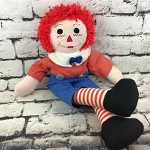 Vintage Handmade Raggedy Andy Plush Classic Rag Boy Doll Stuffed Toy Flaw - $19.79