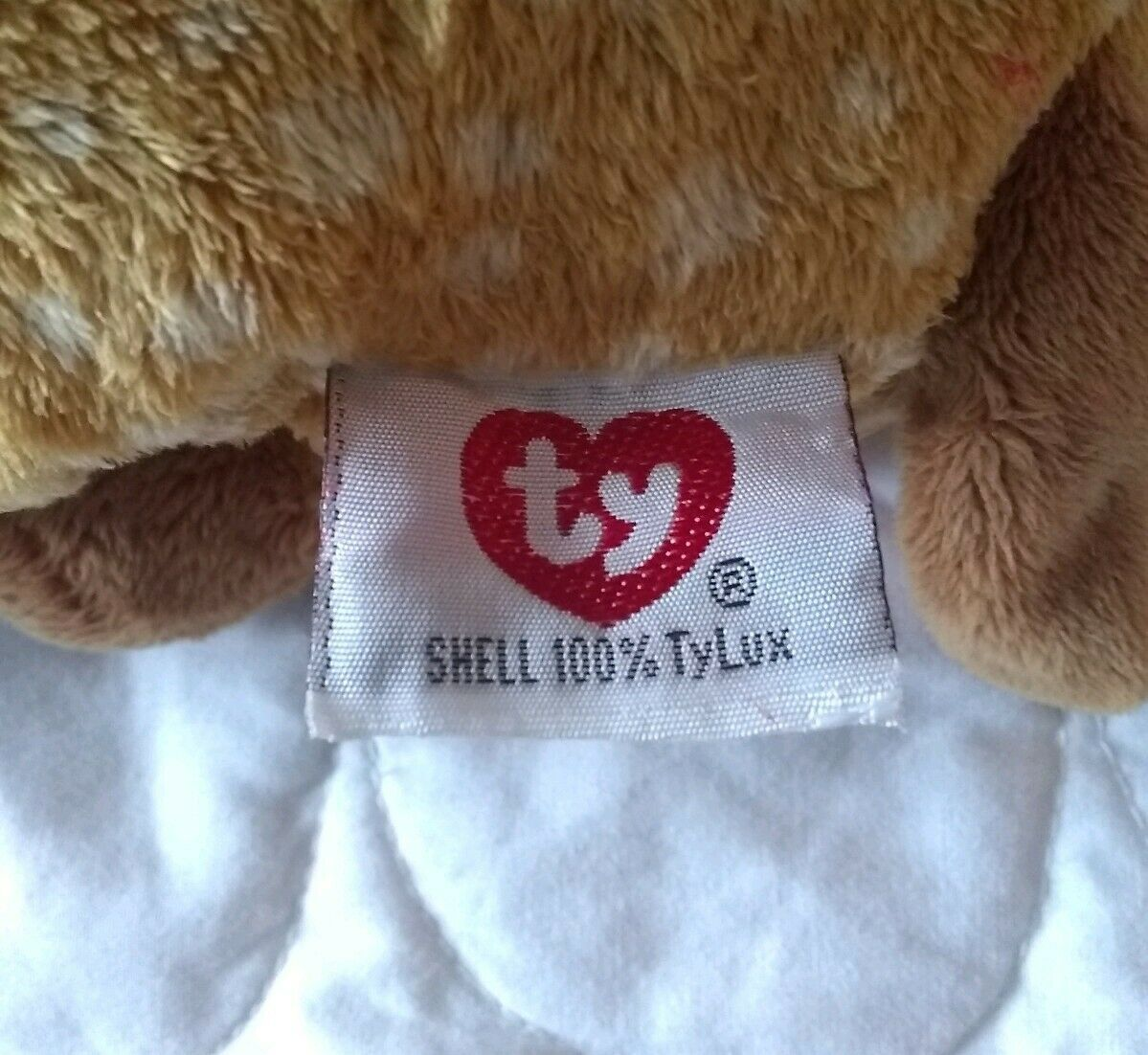"""TY Pluffies brown white spotted LASSO the HORSE PONY FOAL Beanbag Plush 9"""" 2003"""