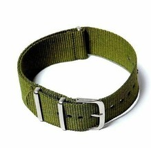 20mm X 255mm Nato Canvas Nylon wrist watch Band strap ARMY OLIVE GREEN - $10.42