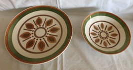 "Taylor Smith & Taylor Ironstone ""Indian Morn"" Dinner Plate 10 1/4"" & Bow... - $32.66"