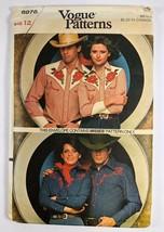 Vintage Vogue Pattern 8973 Misses Western style shirt size 12 Uncut - $9.89