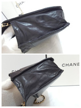 Auth Chanel Timeless Black Caviar Leather Gold Chain Wallet WOC Crossbody Bag image 4