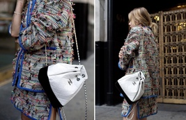 BNIB 2019 Chanel White Black Gabrielle Quilted Leather Bucket Bag RECEIPT  image 9