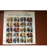USA United States Classical Composers sheet mnh 1997  stamps - $11.95