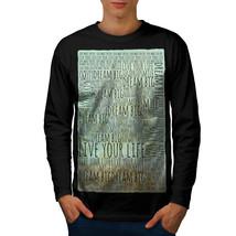 Dream Big Positive Slogan Tee Dream Big Men Long Sleeve T-shirt - $14.99