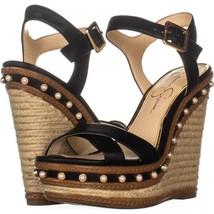 Jessica Simpson Aeralin Wedge Slingback Sandals 771, Black, 8 US / 38 EU - $34.55