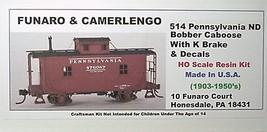 Funaro & Camerlengo HO PRR ND Bobber Caboose w/ K Brake kit 514 image 1