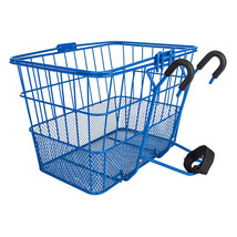 Sunlite LiftOff Bicycle Basket Mesh Bottom13.5x9.87x9.5inches-quick mount-Blue - $33.33